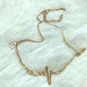 Jewelry - 3/$25 Heartbeat gold chain necklace jewelry gift